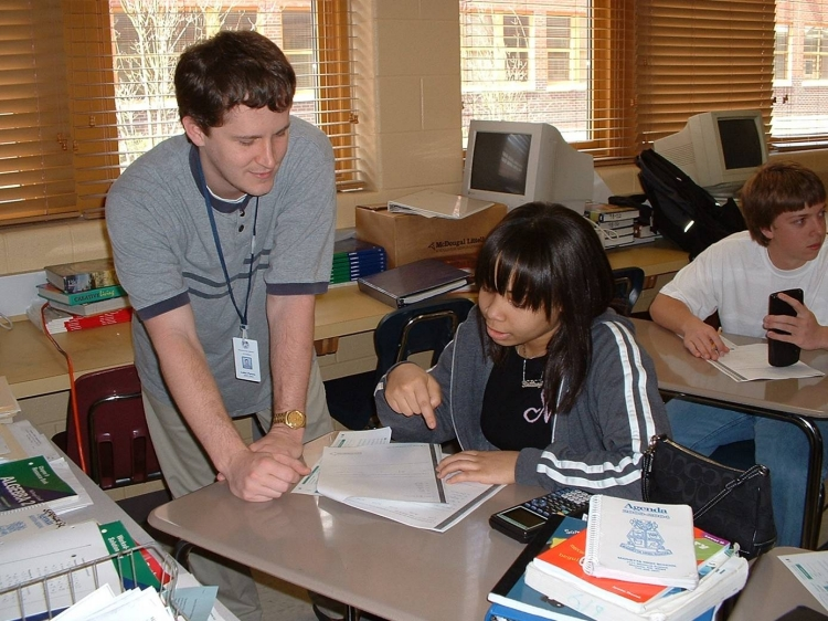 Uploaded Image: Fellow with student at Marietta 2005.jpg